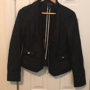Shiny Black White House Black Market Jacket